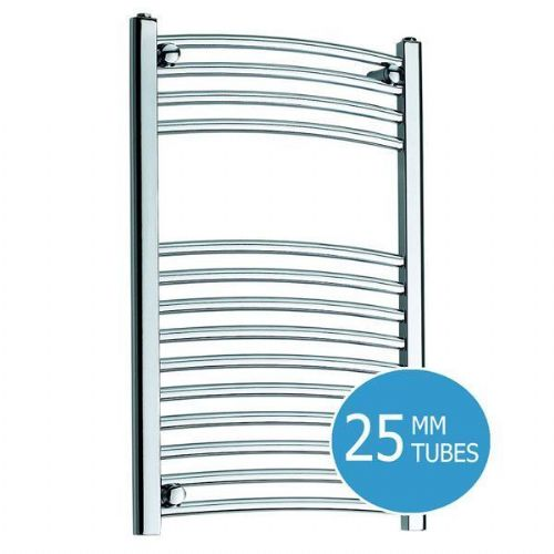 Kartell K-Rail Premium Curved Towel Rail - 500mm x 750mm- Chrome